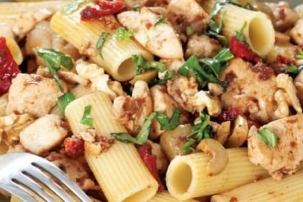 How to Make Chicken Pasta with Tomatoes - Recipe